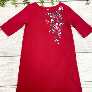 Tea Collection Red Floral Embroidered Dress 7